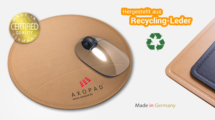 Mousepad aus Recycling-Leder (rund)
