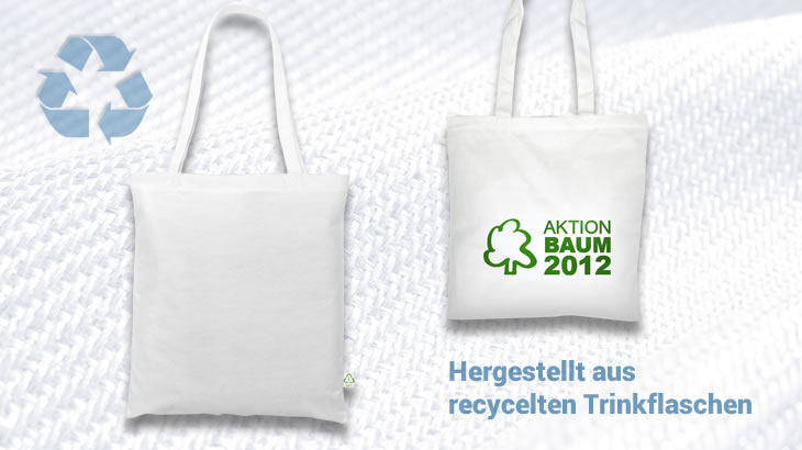PET-Recyclingtasche, lange Henkel