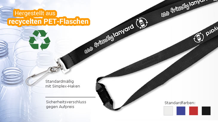 Recycling-Lanyard aus PET-R