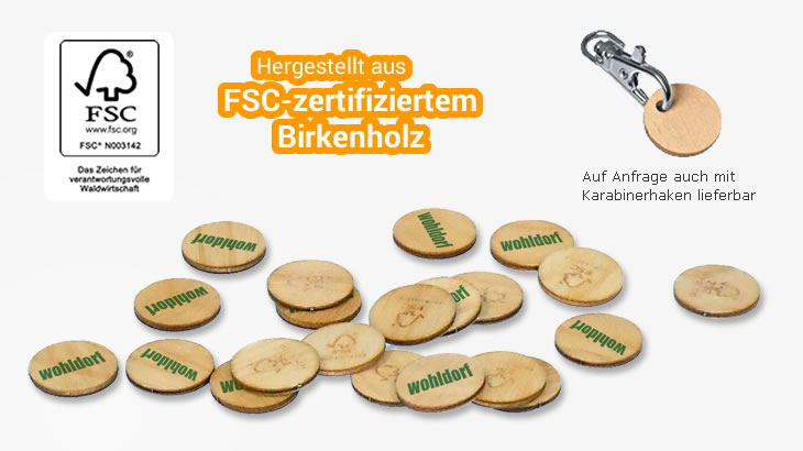 green coin aus fsc174 zertifiziertem holz green promotion
