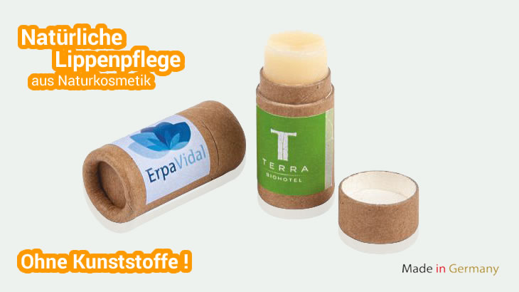 Lipbalm Stift in Kartonhülse