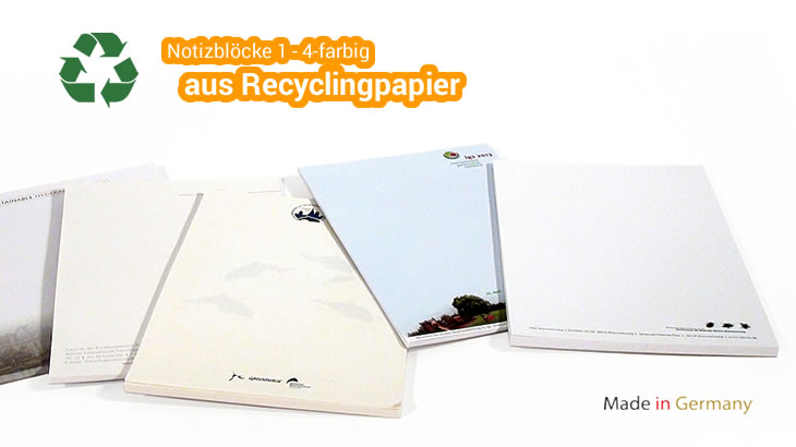 Notizblock RECY aus Recyclingpapier
