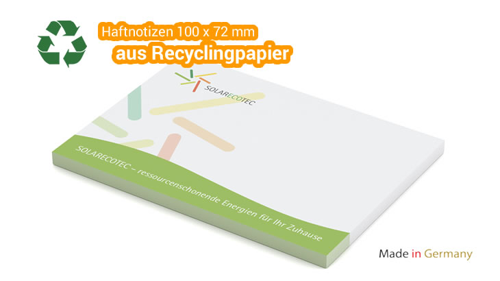 Haftnotizen Recycling - 100 x 72