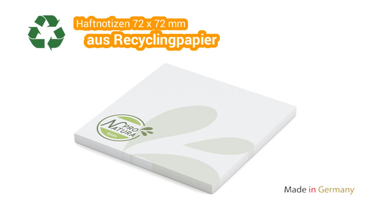 Haftnotizen Recycling - 72 x 72